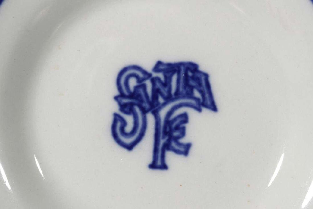 AT&SF SANTA FE BLEEDING BLUE BUTTER PAT - 3