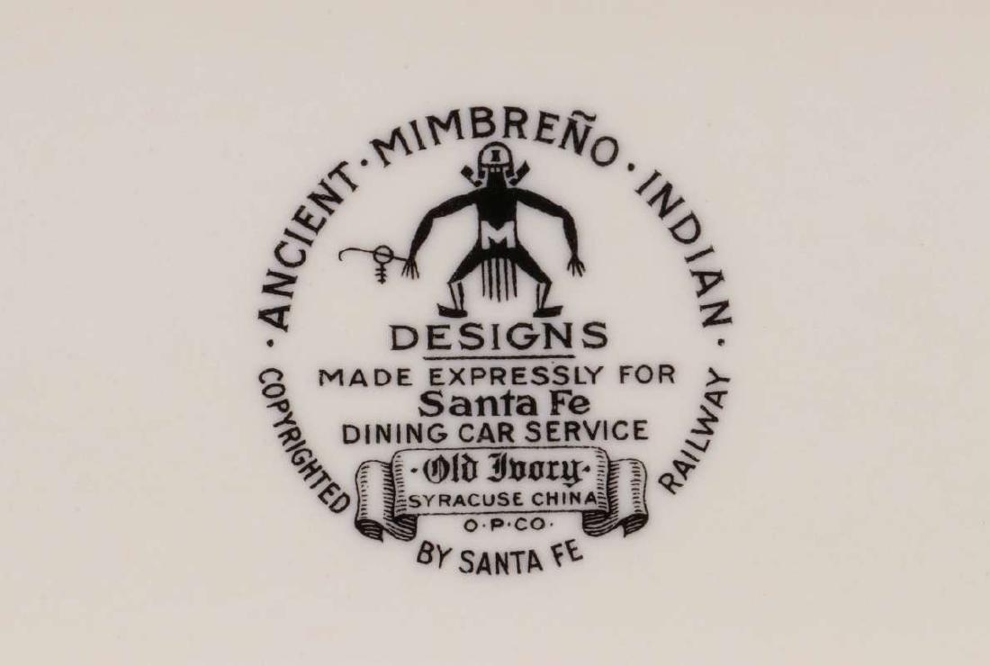 AT&SF SANTA FE RR MIMBRENO PATTERN CELERY TRAY - 8