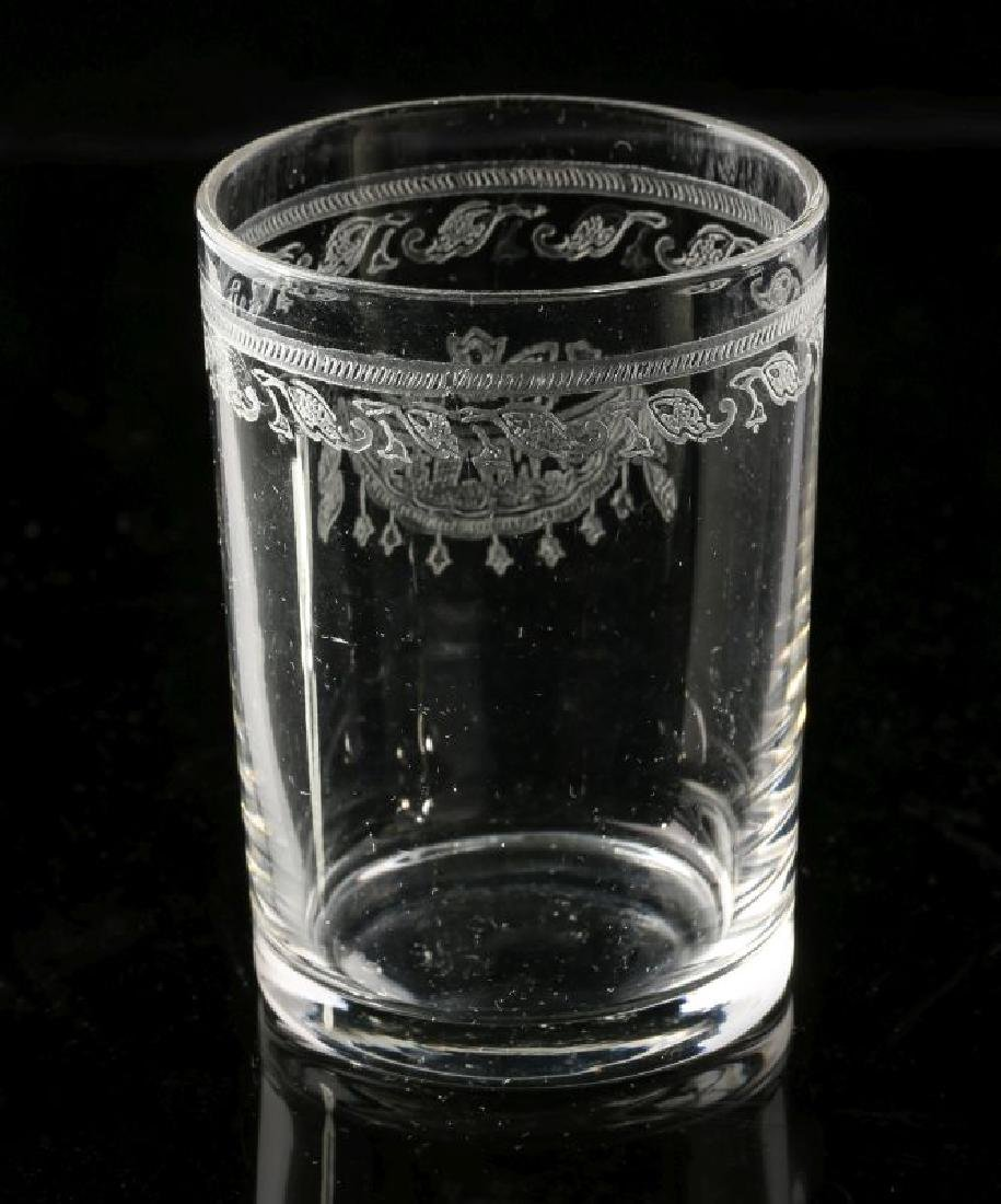 AT&SF SANTA FE RR ETCHED DRAPE SHOT GLASS - 5