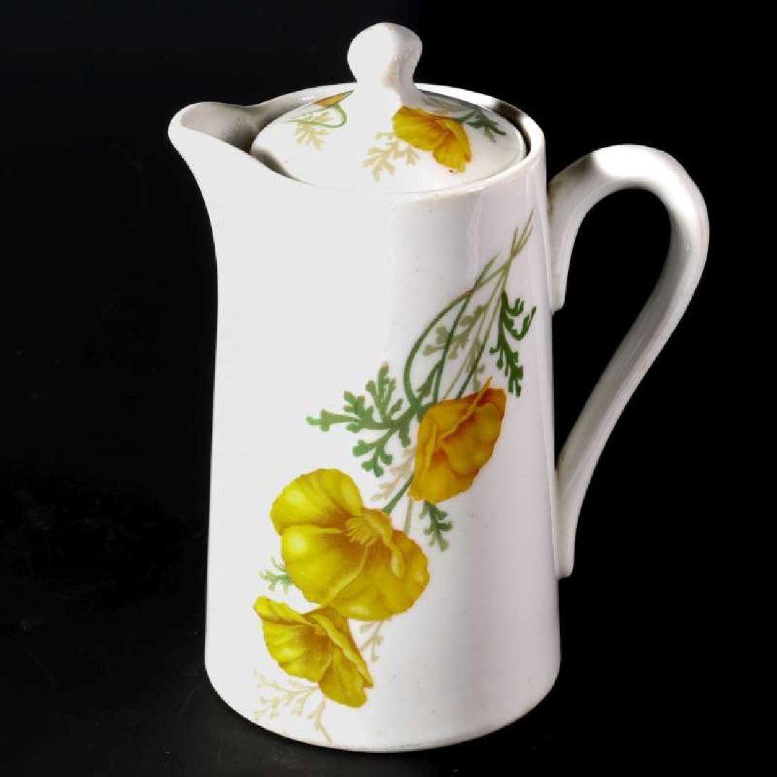 AT&SF SANTA FE RR CALIFORNIA POPPY CHOCOLATE POT