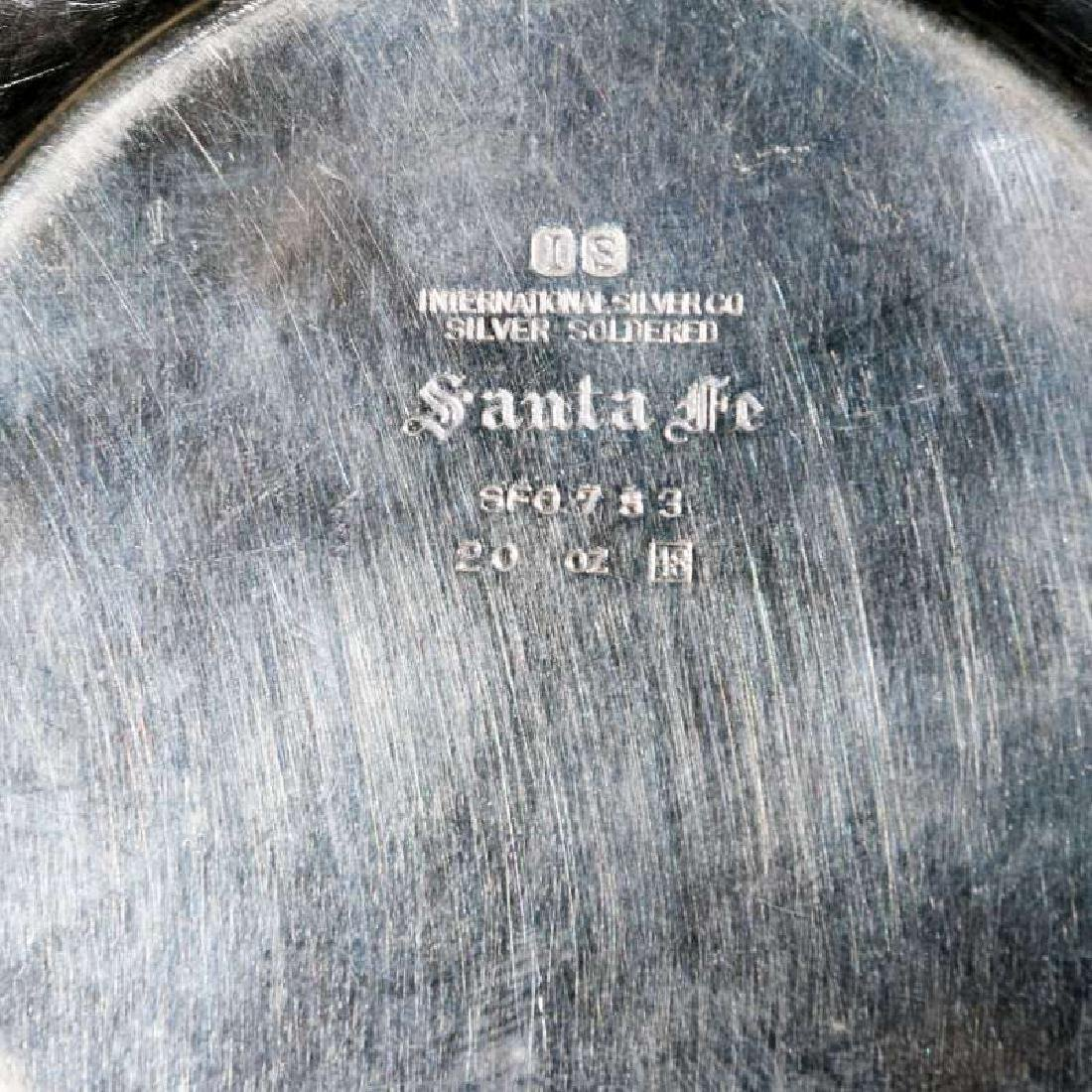 TWO AT&SF SANTA FE RR GADROON STYLE PLATES - 15