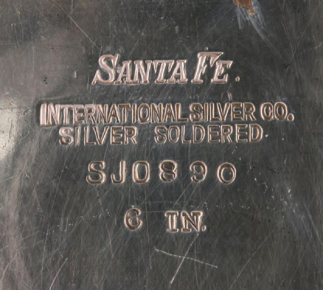 AT&SF SANTA FE RR INT'L SILVER SQUARE TRAY - 4
