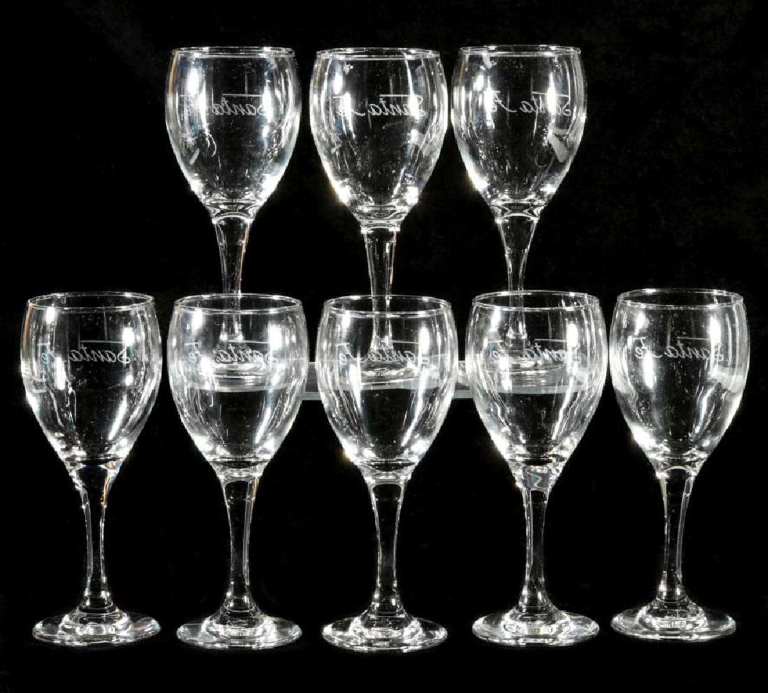 EIGHT AT&SF SANTA FE ETCHED LOGO WINE STEMS - 5