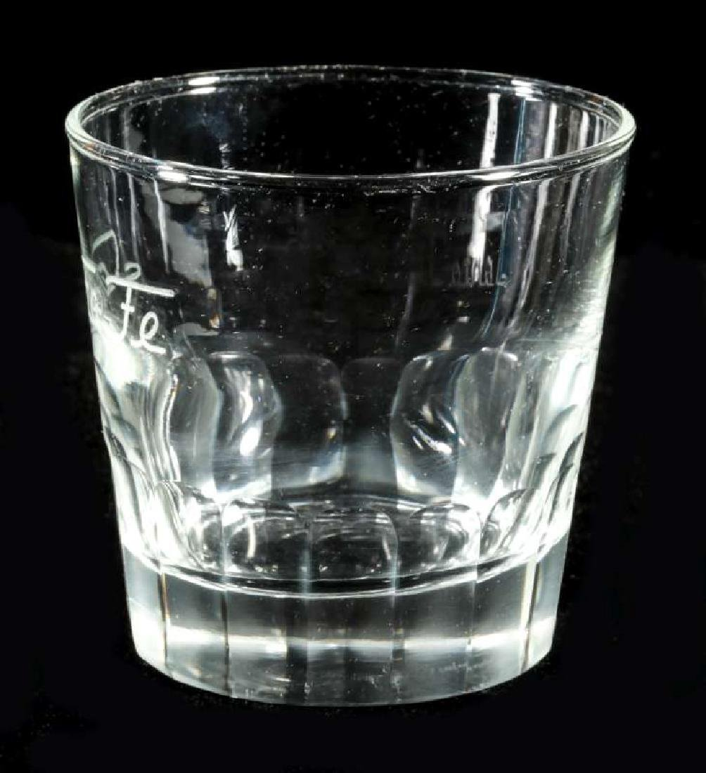 AT&SF SANTA FE RR FROSTED OLD FASHIONED TUMBLER - 4