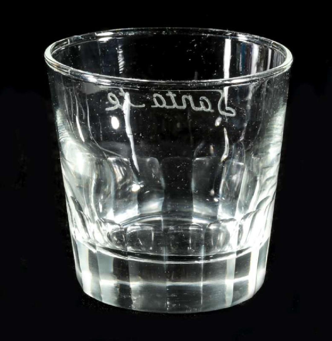 AT&SF SANTA FE RR FROSTED OLD FASHIONED TUMBLER - 5