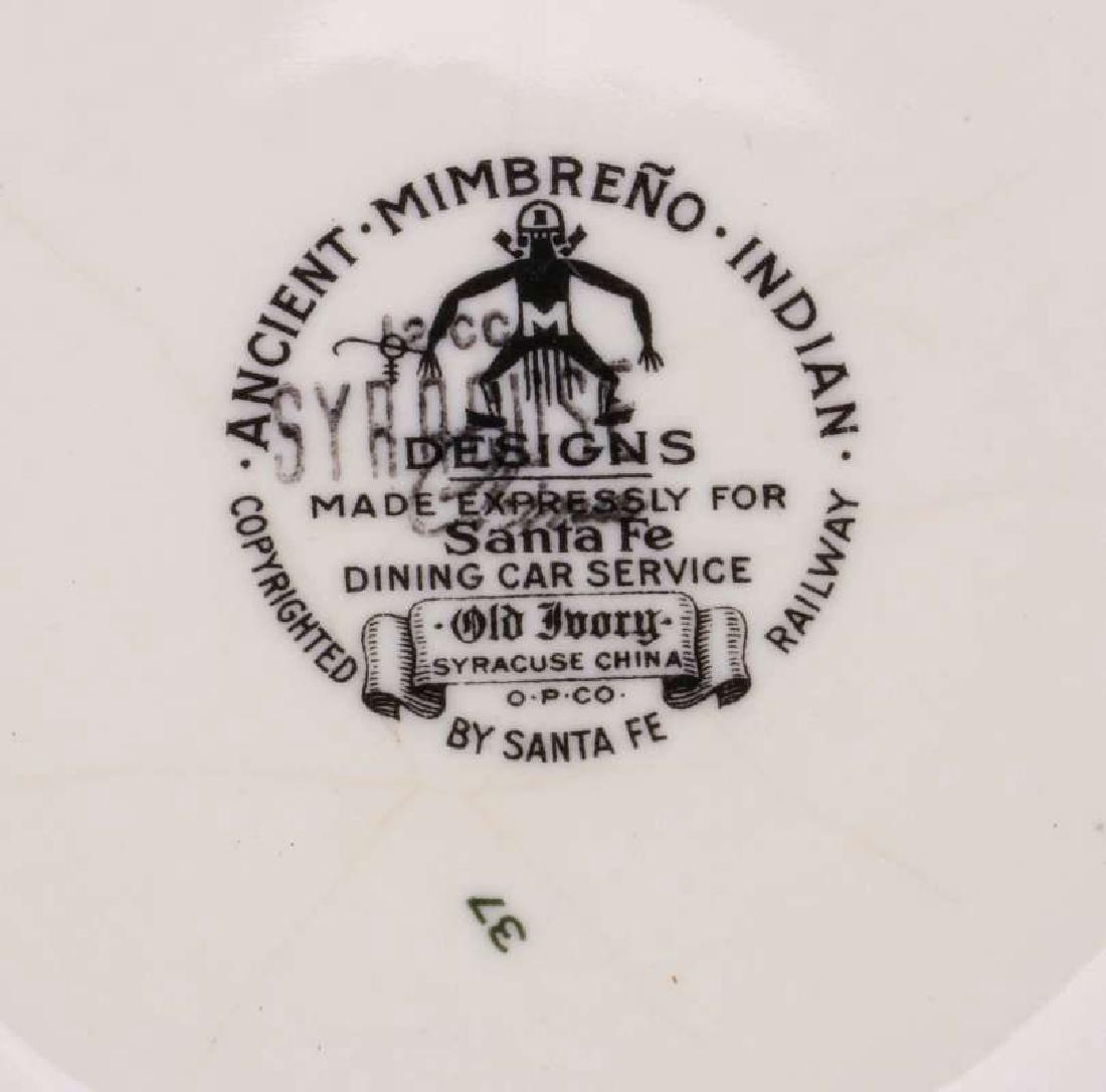 AT&SF SANTA FE RR MIMBRENO FOOTED SALAD BOWL - 9