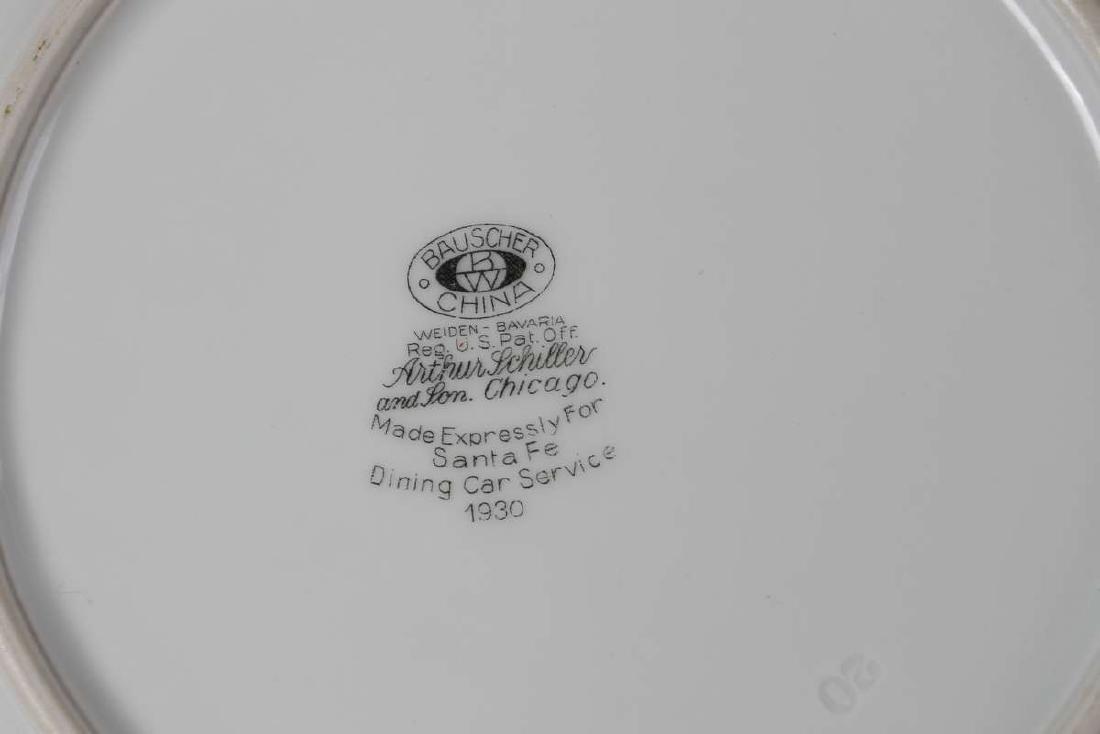 AT&SF SANTA FE RR CALIFORNIA POPPY PLATE 1930 - 4