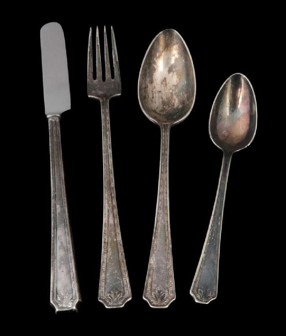 FOUR PIECES PULLMAN CO. ROOSEVELT PATTERN FLATWARE