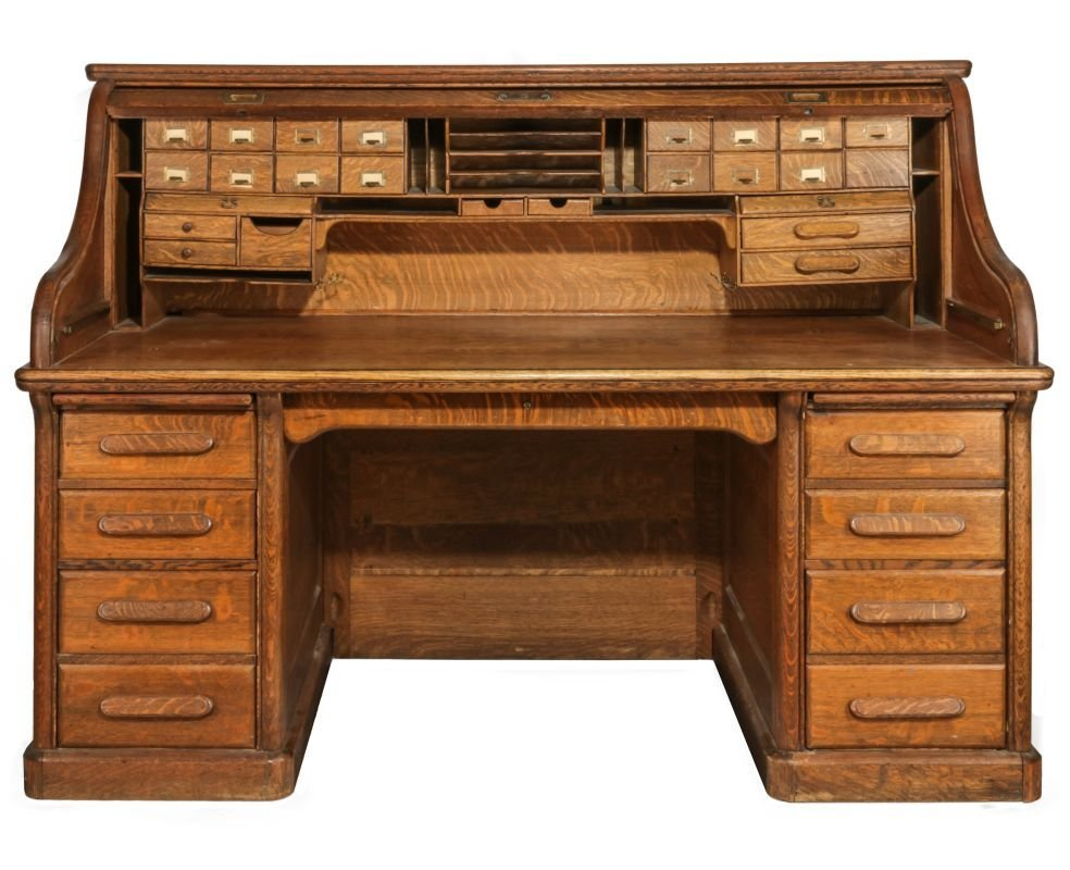 GARFIELD KS  SANTA FE DEPOT ROLL-TOP DESK C. 1872