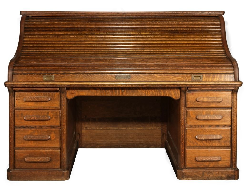 GARFIELD KS  SANTA FE DEPOT ROLL-TOP DESK C. 1872 - 7