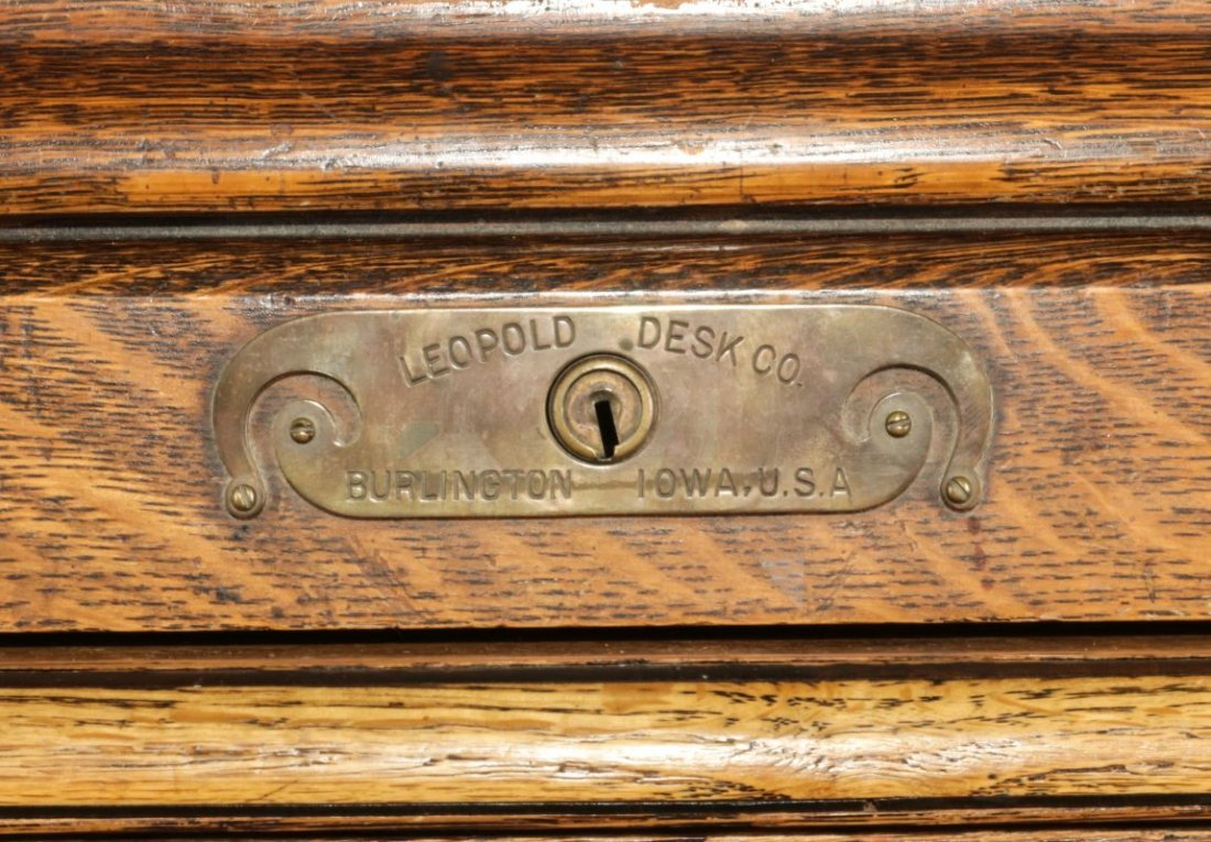 GARFIELD KS  SANTA FE DEPOT ROLL-TOP DESK C. 1872 - 8