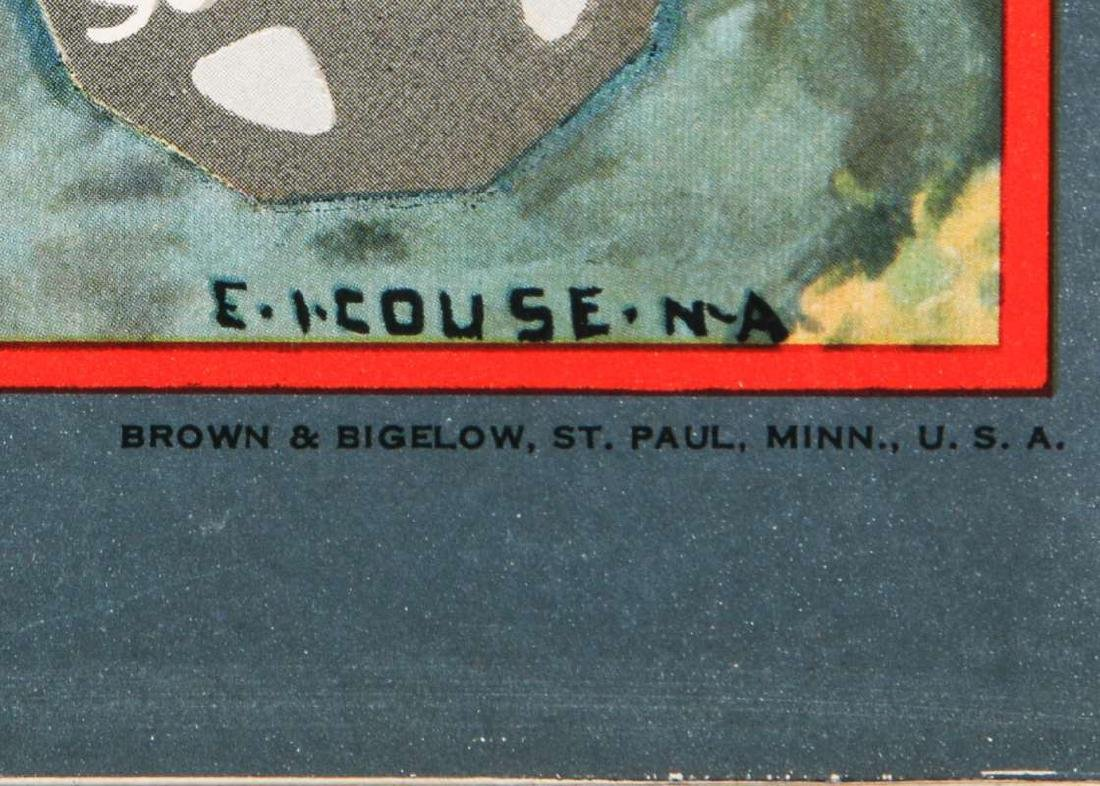 1937 SANTA FE RR E.I. COUSE CALENDAR WITH FULL PAD - 3