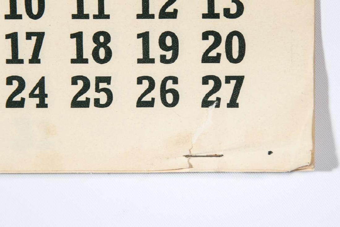 1937 SANTA FE RR E.I. COUSE CALENDAR WITH FULL PAD - 7