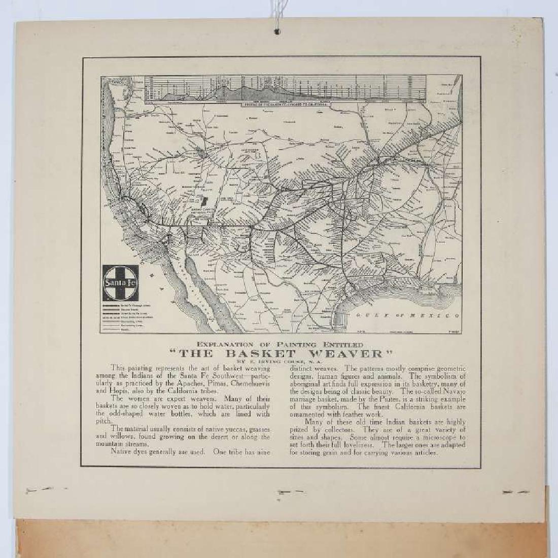 1925 SANTA FE RR E.I. COUSE CALENDAR WITH FULL PAD - 10