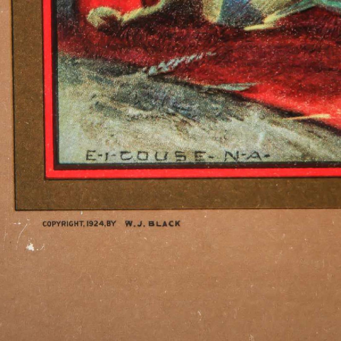 1925 SANTA FE RR E.I. COUSE CALENDAR WITH FULL PAD - 4