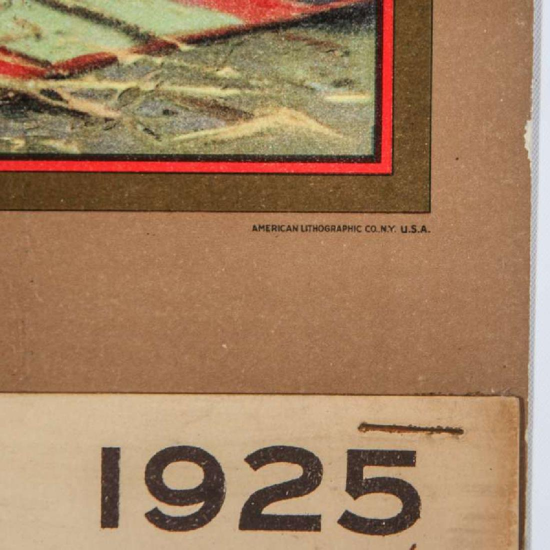 1925 SANTA FE RR E.I. COUSE CALENDAR WITH FULL PAD - 6
