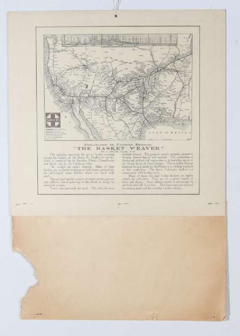 1925 SANTA FE RR E.I. COUSE CALENDAR WITH FULL PAD - 9