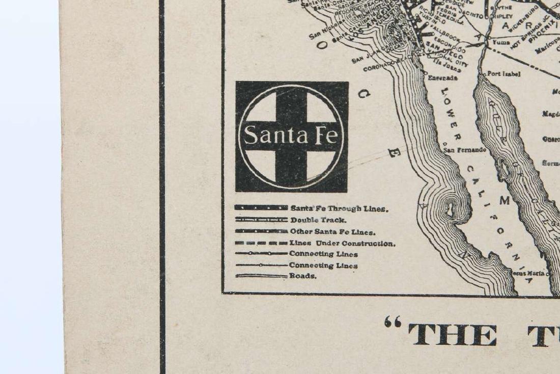 A 1926 SANTA FE RAILROAD  E.I. COUSE CALENDAR  TOP - 9