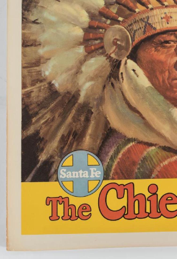 A SANTA FE 'THE CHIEF WAY' ADVERTISING POSTER - 6