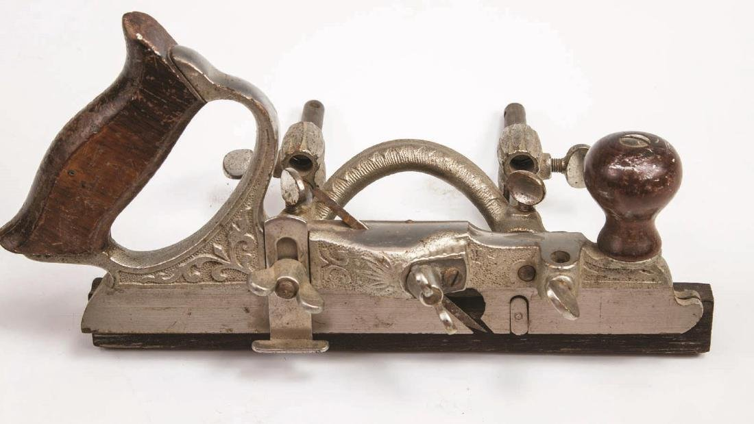 A STANLEY NO. 46 SKEW CUTTER PLANE WITH CUTTERS - 2