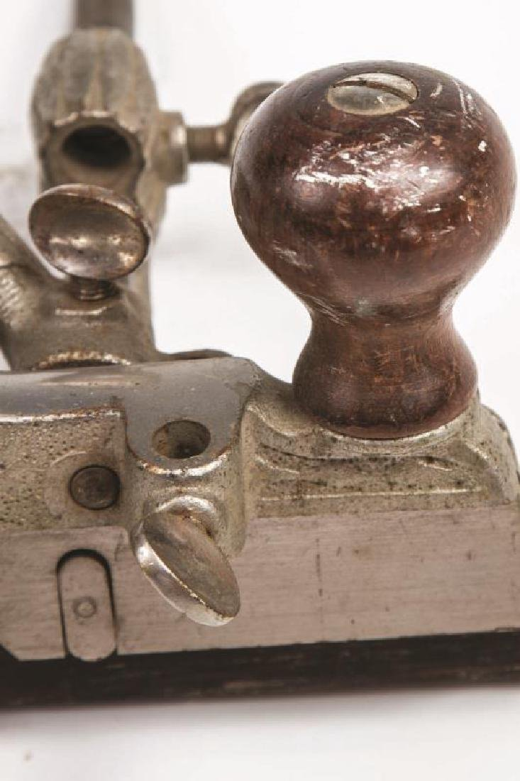 A STANLEY NO. 46 SKEW CUTTER PLANE WITH CUTTERS - 6