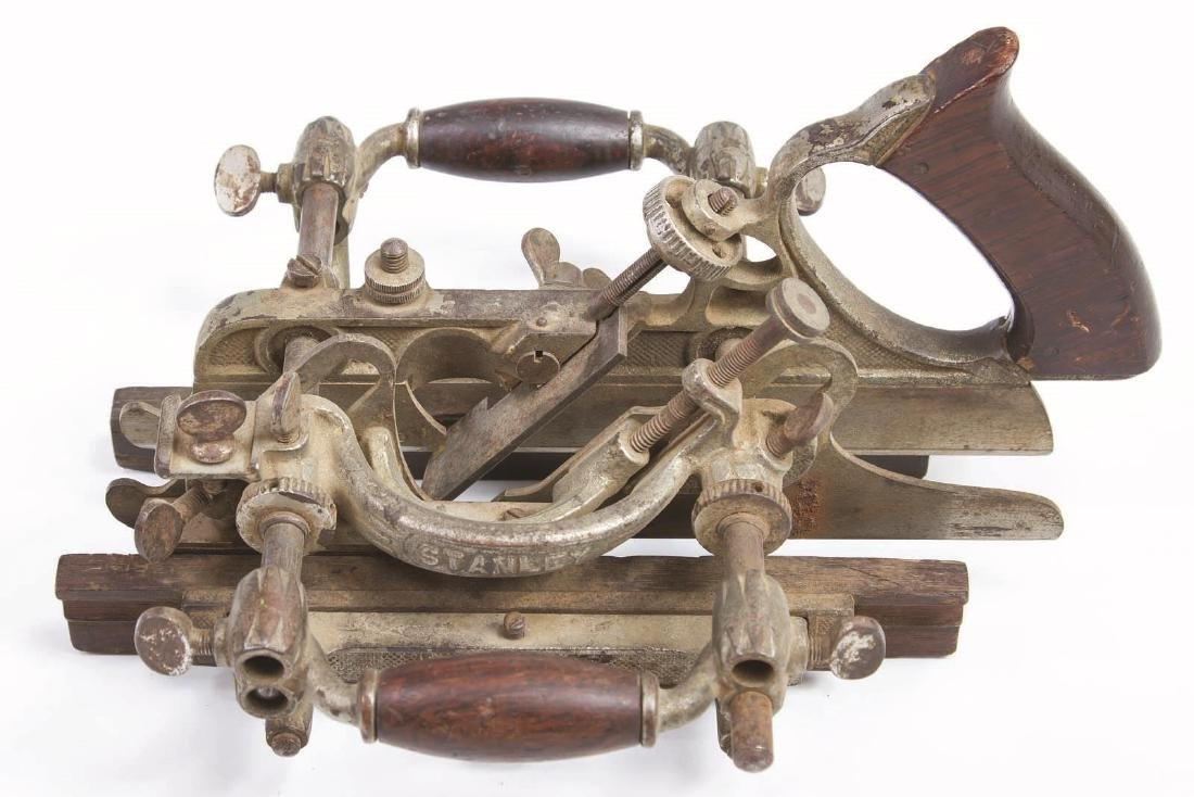A STANLEY NO. 55 UNIVERSAL PLANE WITH CUTTERS - 3