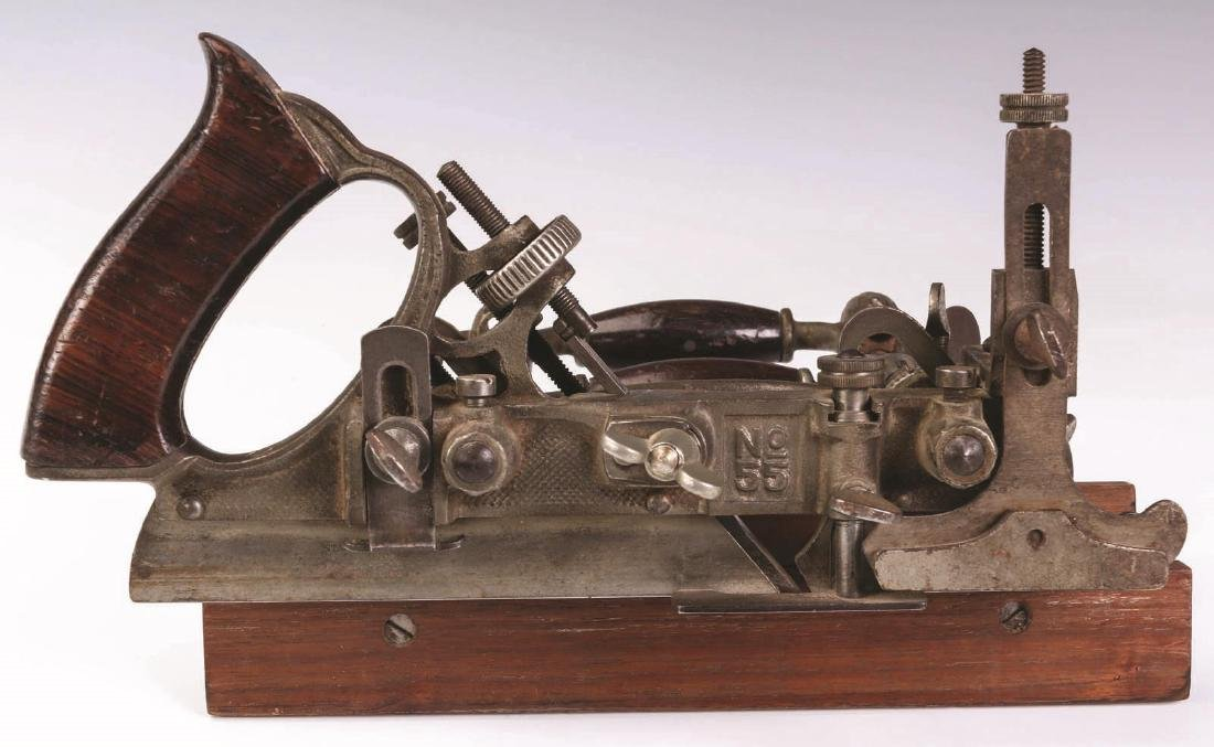 A STANLEY NO 55 UNIVERSAL COMBINATION PLANE - 7
