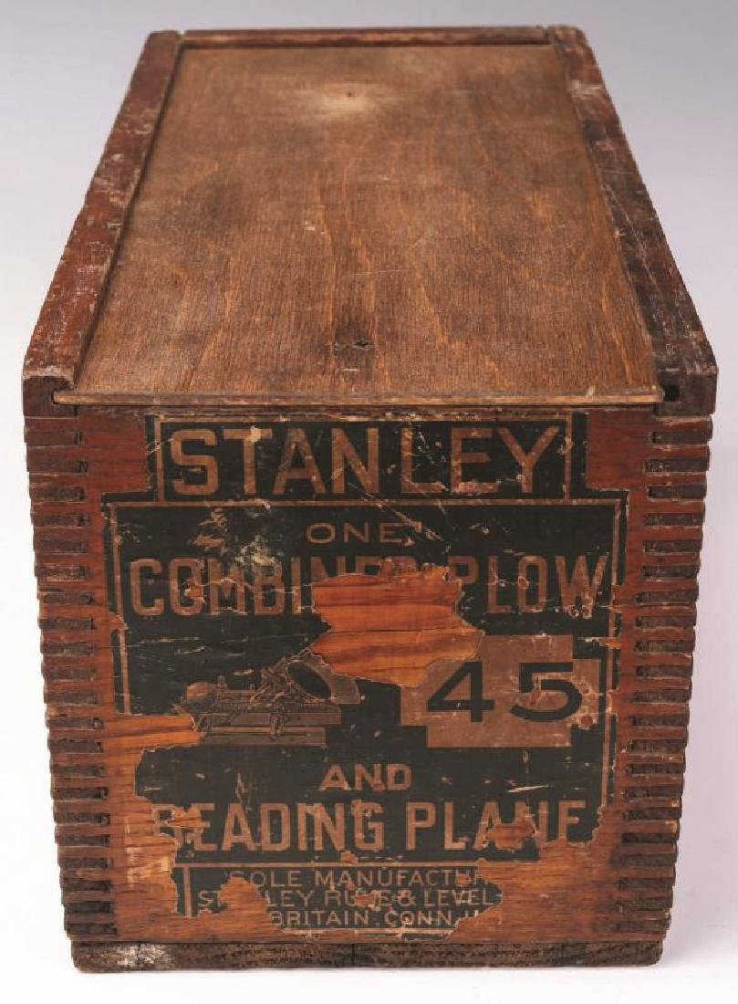STANLEY PLANE No. 45 WITH ORIGINAL BOX & CUTTERS - 3