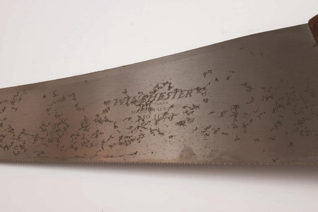 A VINTAGE WINCHESTER NO. 10 HAND SAW - 3
