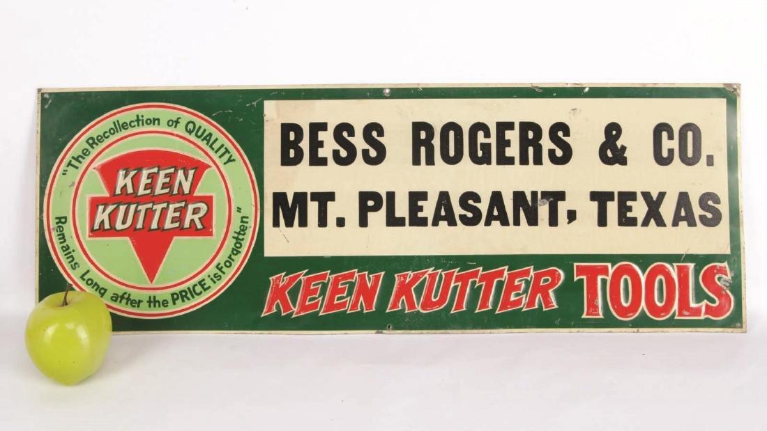 A VINTAGE KEEN KUTTER ENAMEL ADVERTISING SIGN - 6