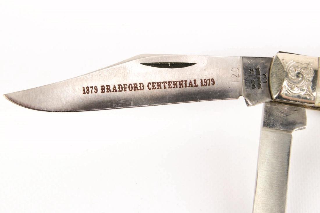 A CASE POCKETKNIFE '1879 BRADFORD CENTENNIAL 1979'
