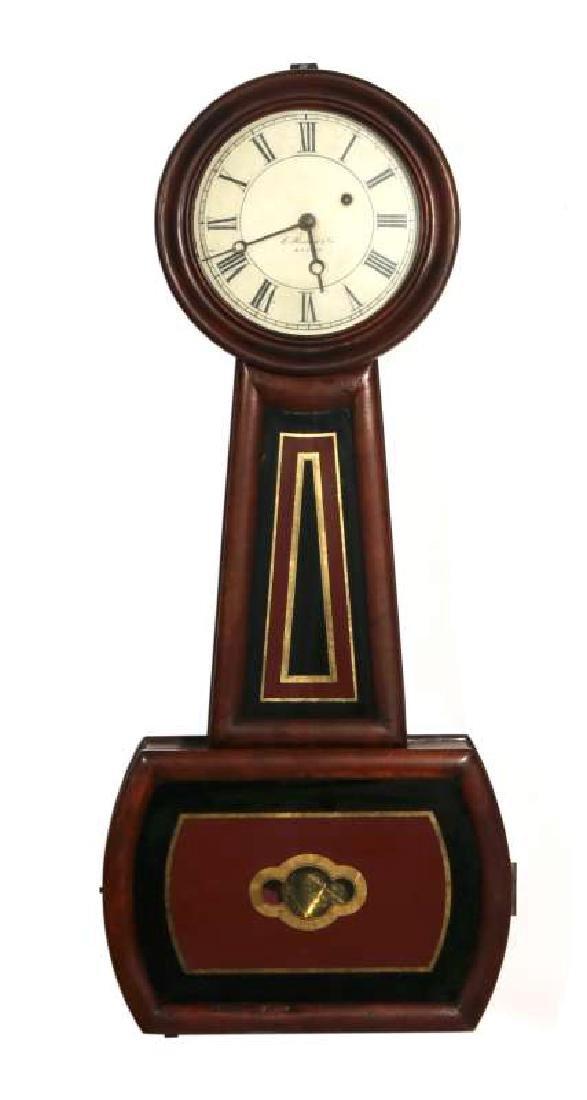 A LATE 19TH C. E. HOWARD CHERRY BANJO CLOCK NO. 4