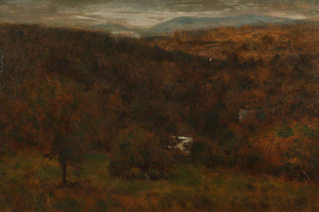 GEORGE INNESS (1825-1894) OIL ON PANEL