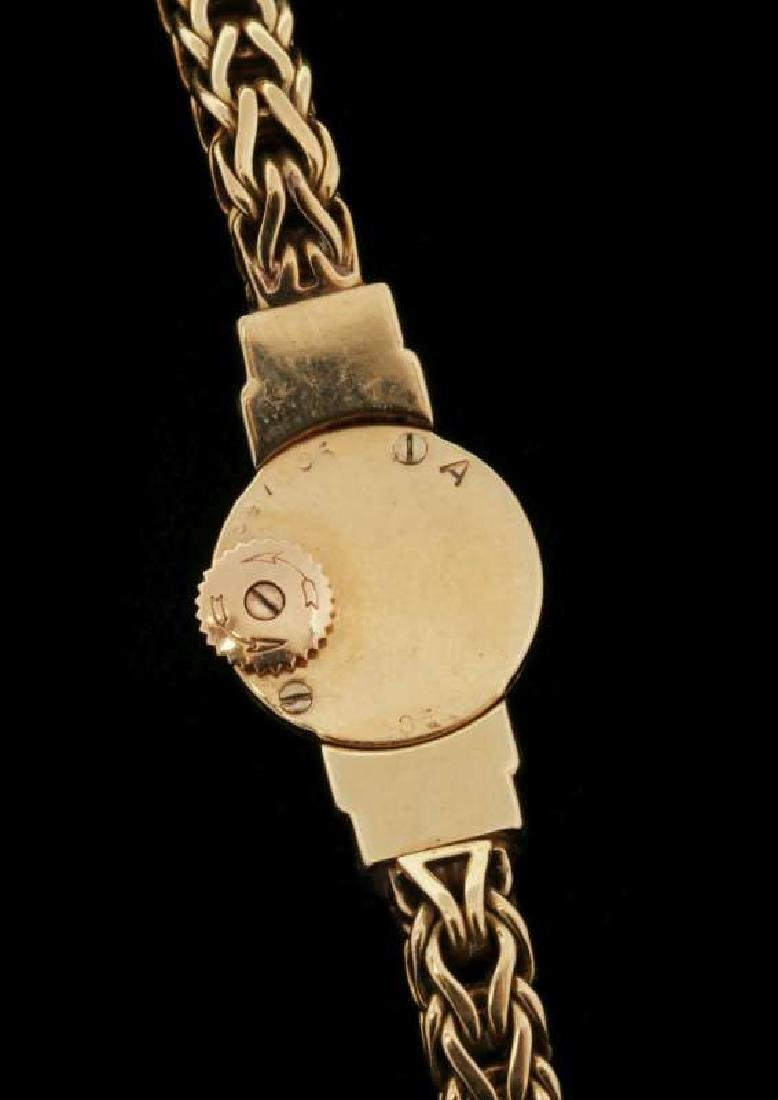 VINTAGE LADIES 18K WATCH BY LECOULTRE FOR CARTIER - 7