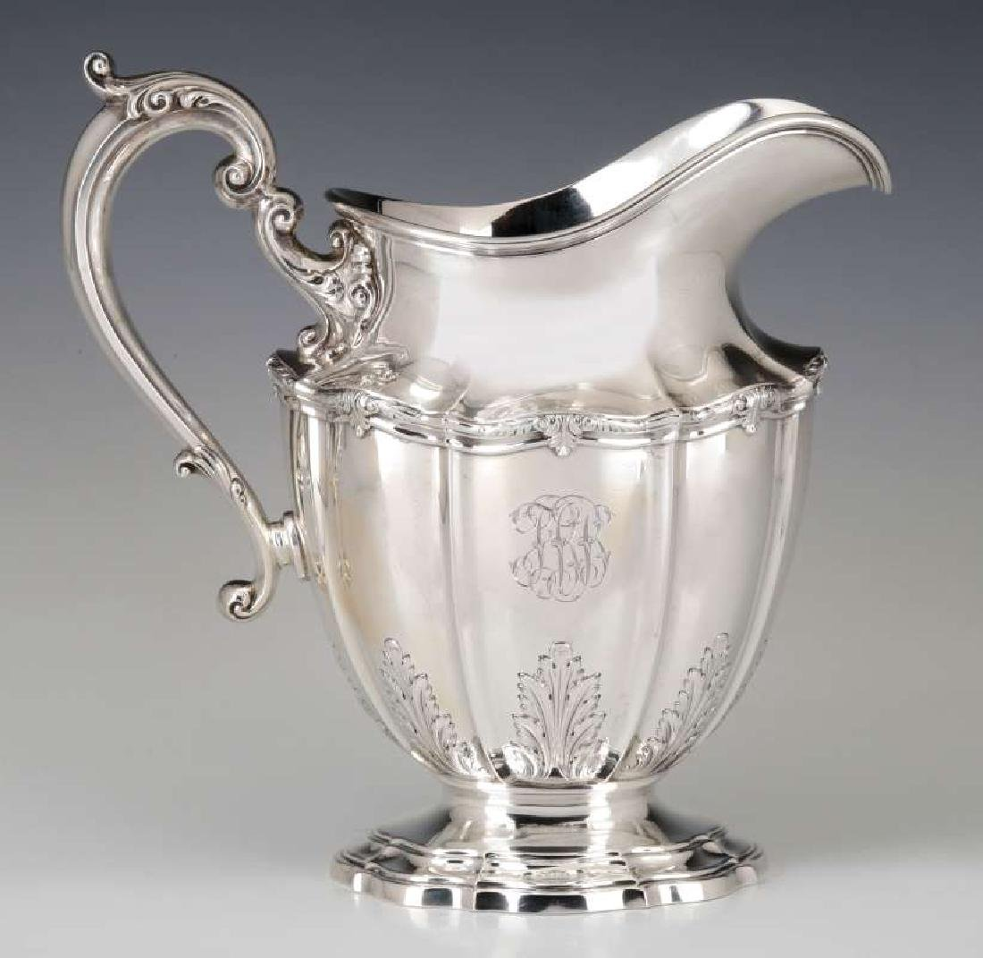 A GORHAM DURGIN STERLING SILVER WATER PITCHER
