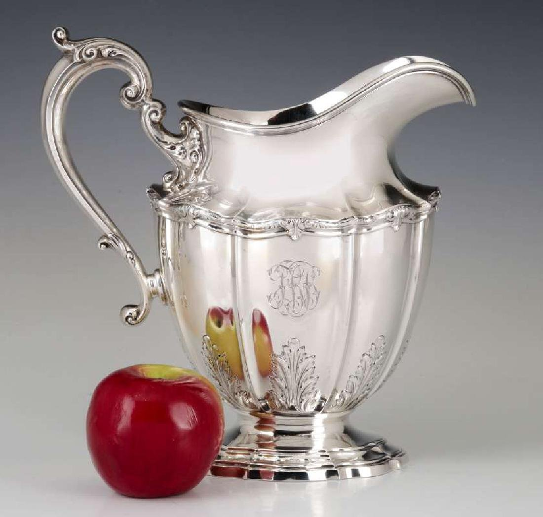A GORHAM DURGIN STERLING SILVER WATER PITCHER - 2