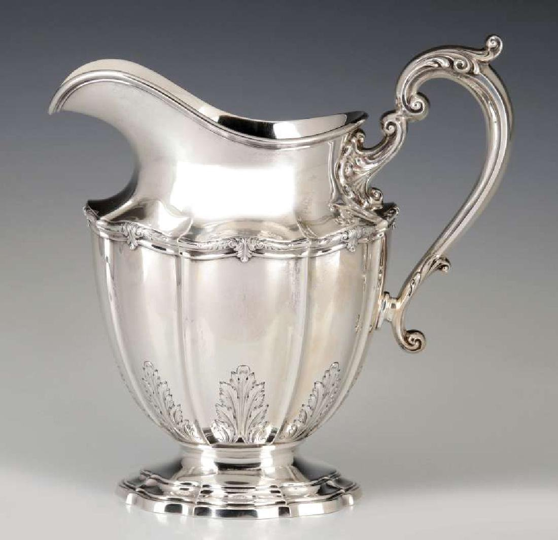 A GORHAM DURGIN STERLING SILVER WATER PITCHER - 6