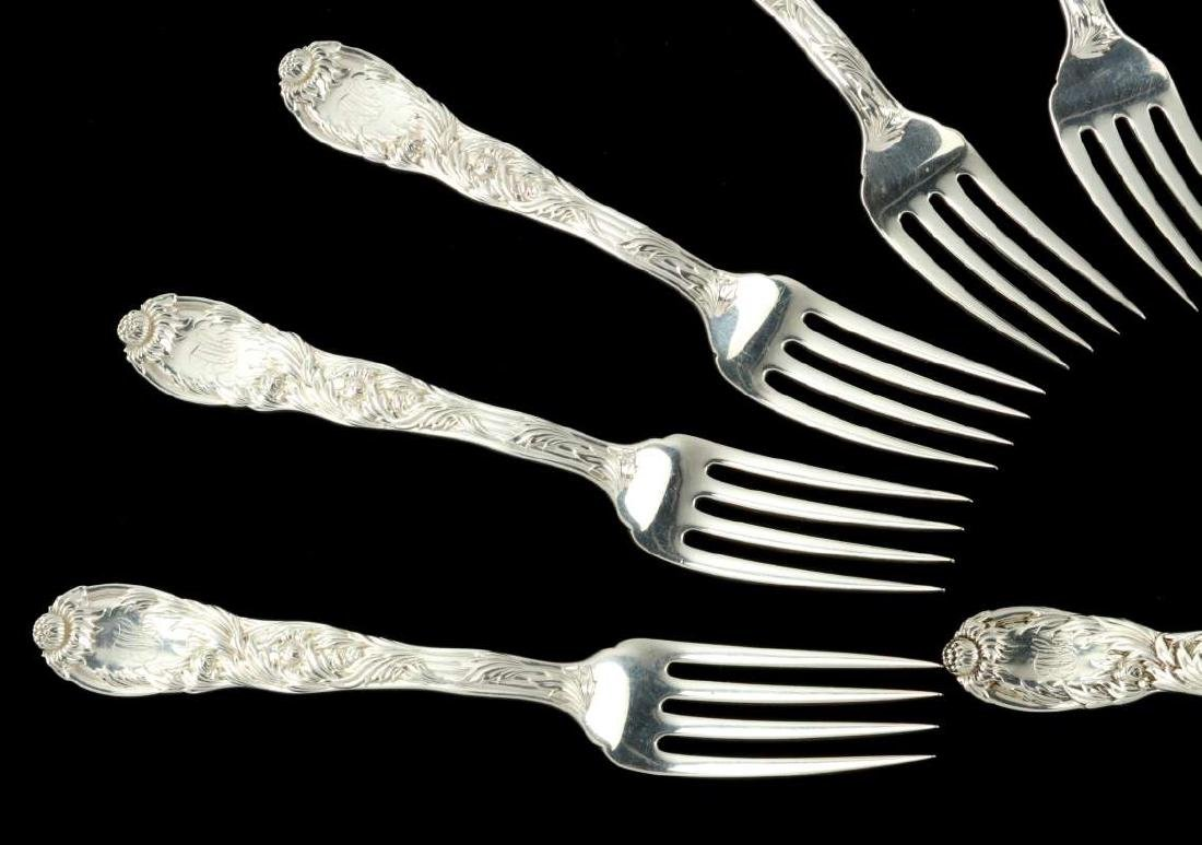 TIFFANY & CO. 'CHRYSANTHEMUM' STERLING FORKS - 2