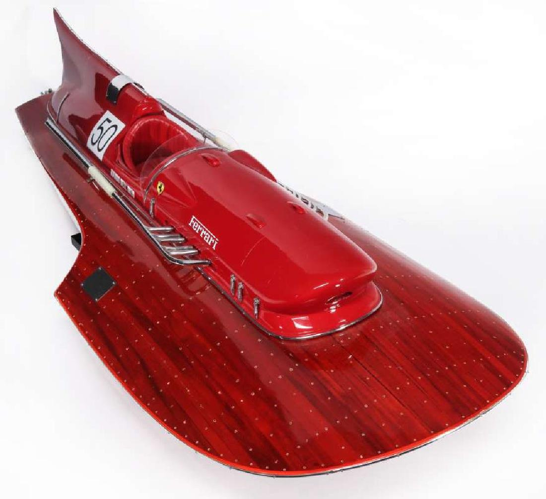 A HAND MADE FERRARI HYDROPLANE BOAT MODEL - 3