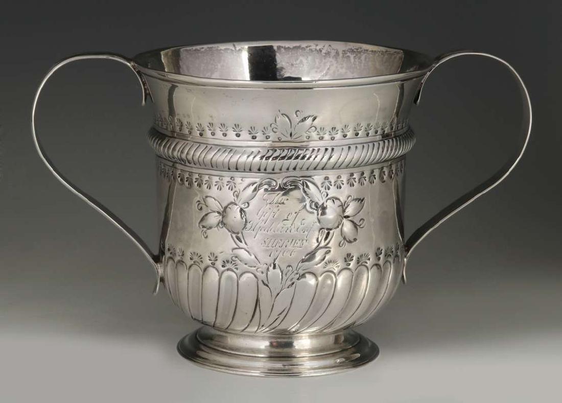 WR PEASTON 18TH C. BRITISH STERLING LOVING CUP