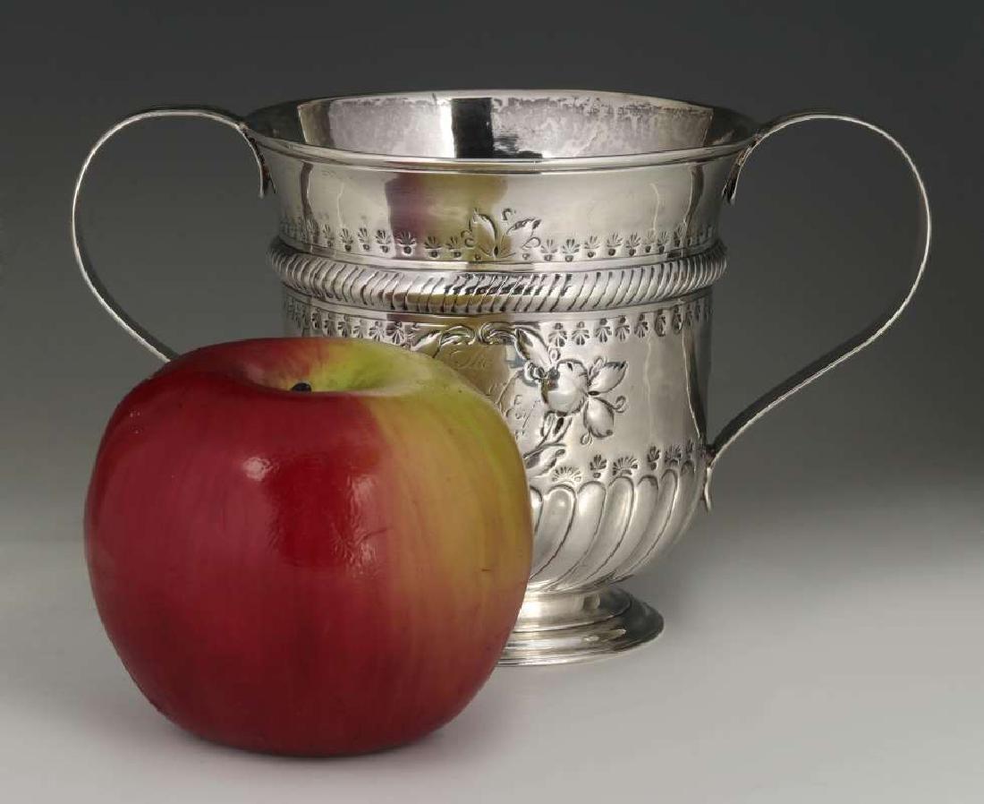 WR PEASTON 18TH C. BRITISH STERLING LOVING CUP - 2