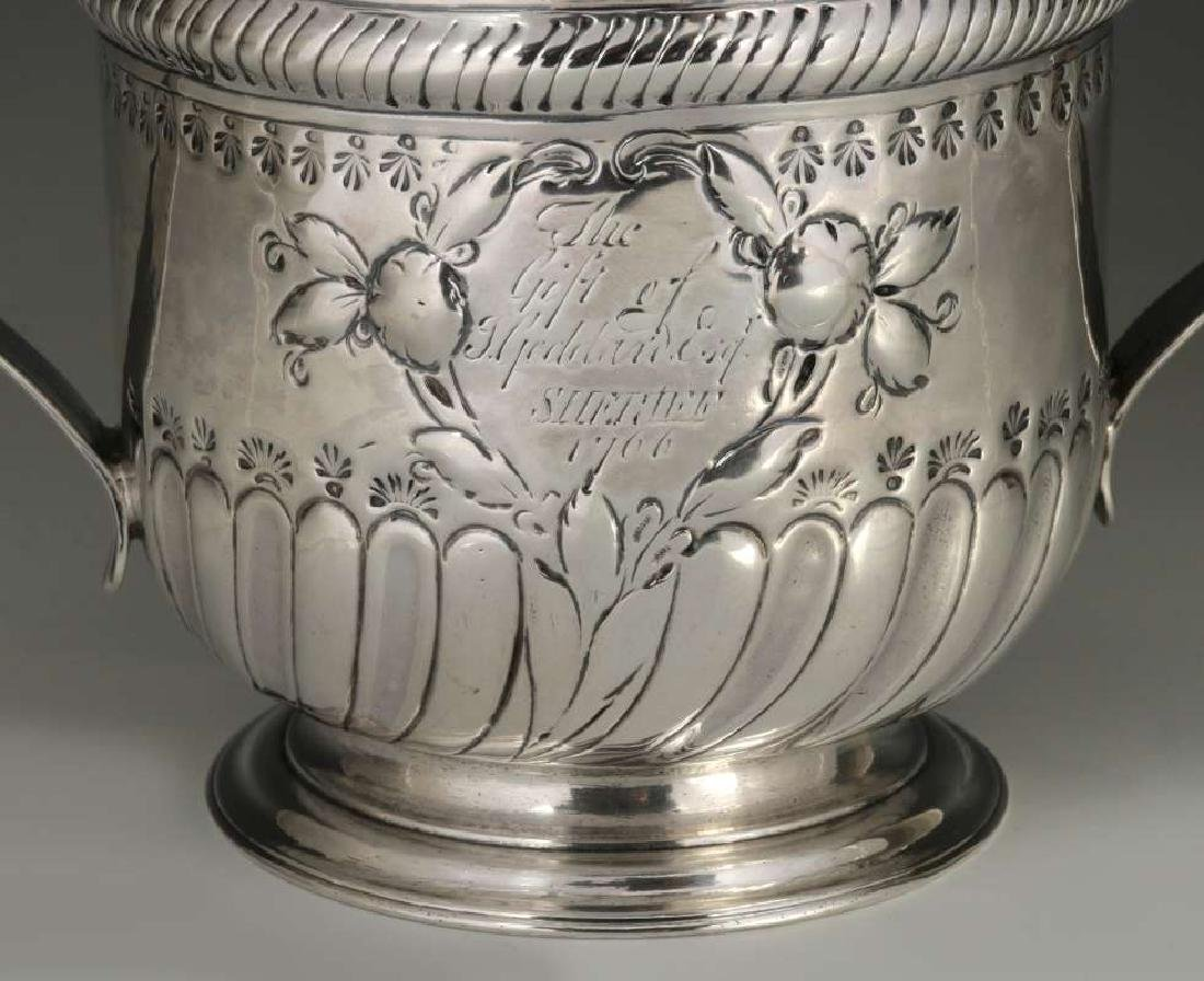 WR PEASTON 18TH C. BRITISH STERLING LOVING CUP - 3