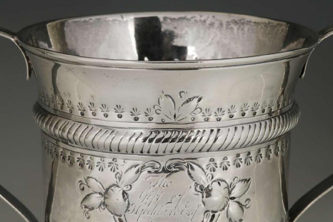 WR PEASTON 18TH C. BRITISH STERLING LOVING CUP - 4