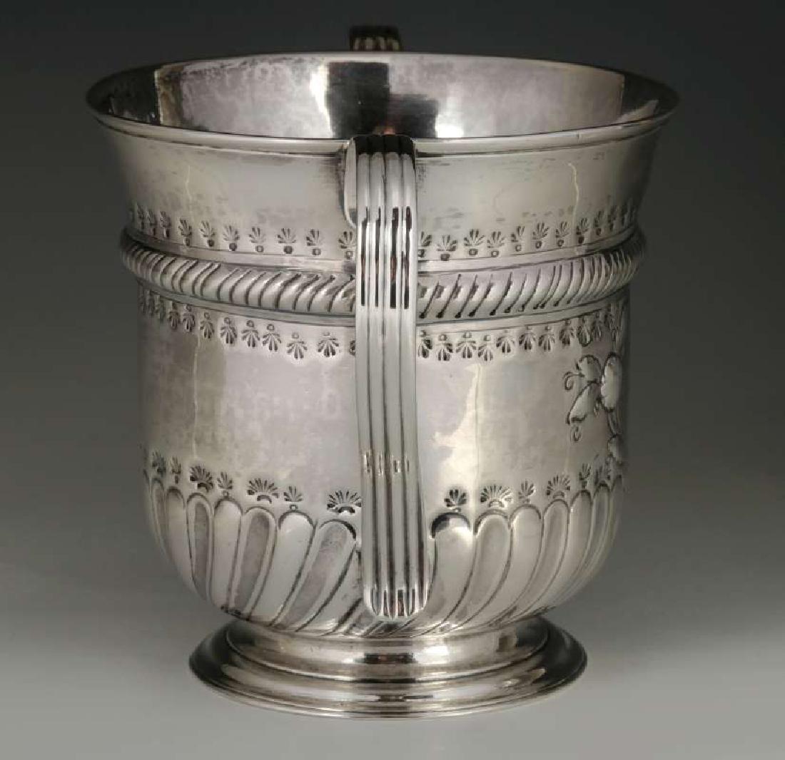 WR PEASTON 18TH C. BRITISH STERLING LOVING CUP - 5