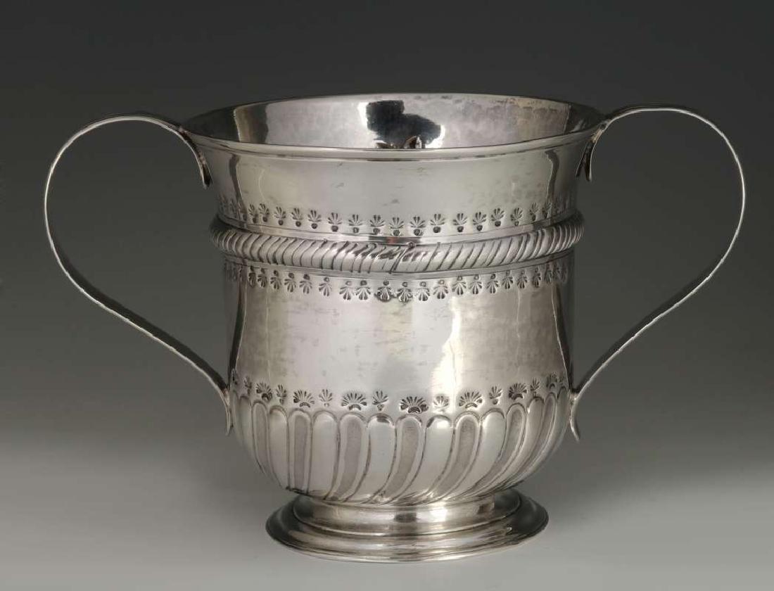 WR PEASTON 18TH C. BRITISH STERLING LOVING CUP - 6