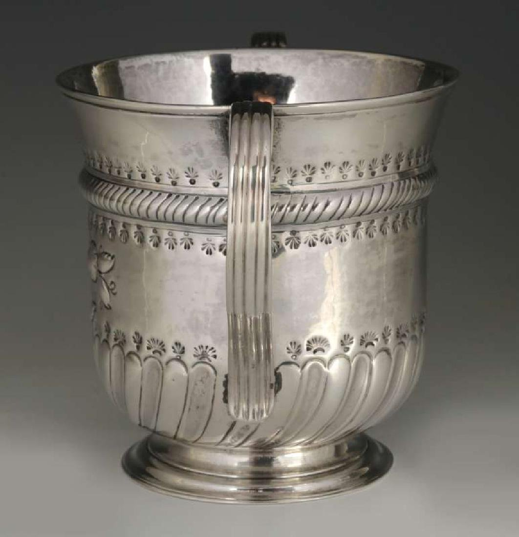 WR PEASTON 18TH C. BRITISH STERLING LOVING CUP - 7