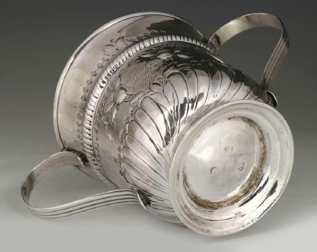 WR PEASTON 18TH C. BRITISH STERLING LOVING CUP - 9
