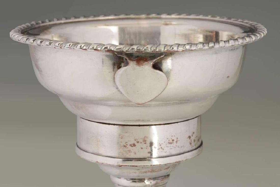 A GEORGIAN OLD SHEFFIELD PLATE SILVER WINE FUNNEL - 6