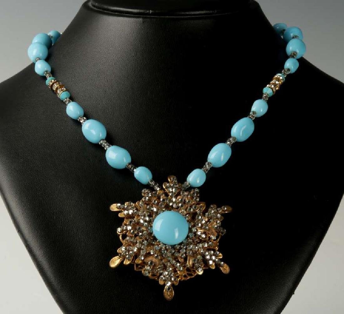 AN EARLY MIRIAM HASKELL PENDANT AND NECKLACE