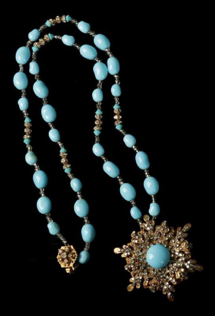 AN EARLY MIRIAM HASKELL PENDANT AND NECKLACE - 7